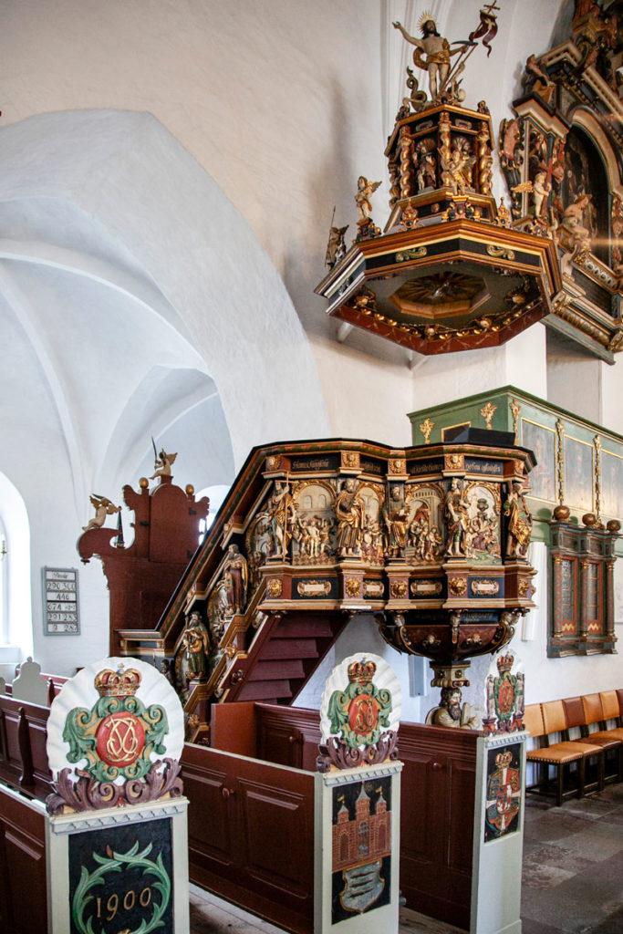 Pulpito del 1692 - Domkirke di Aalborg