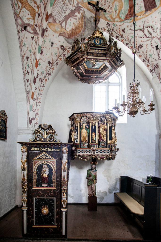 Pulpito della Elmelunde Kirke