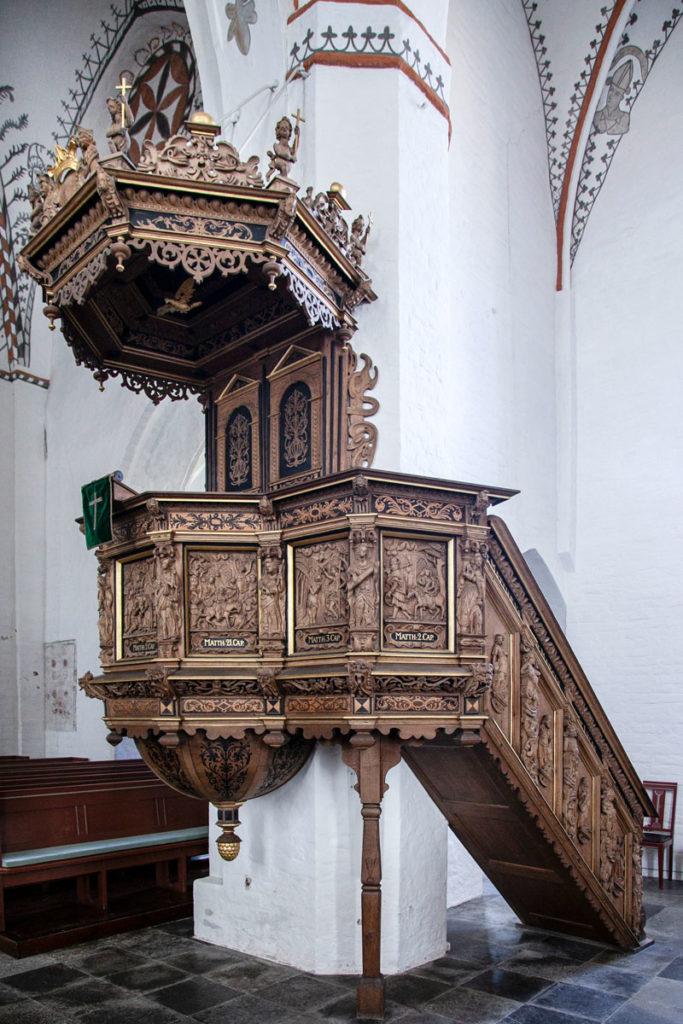 Pulpito in Legno della chiesa di Stege