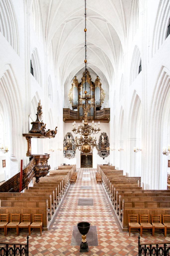 Pulpito Organo e Navata Centrale della Cattedrale di San Canuto - Odense