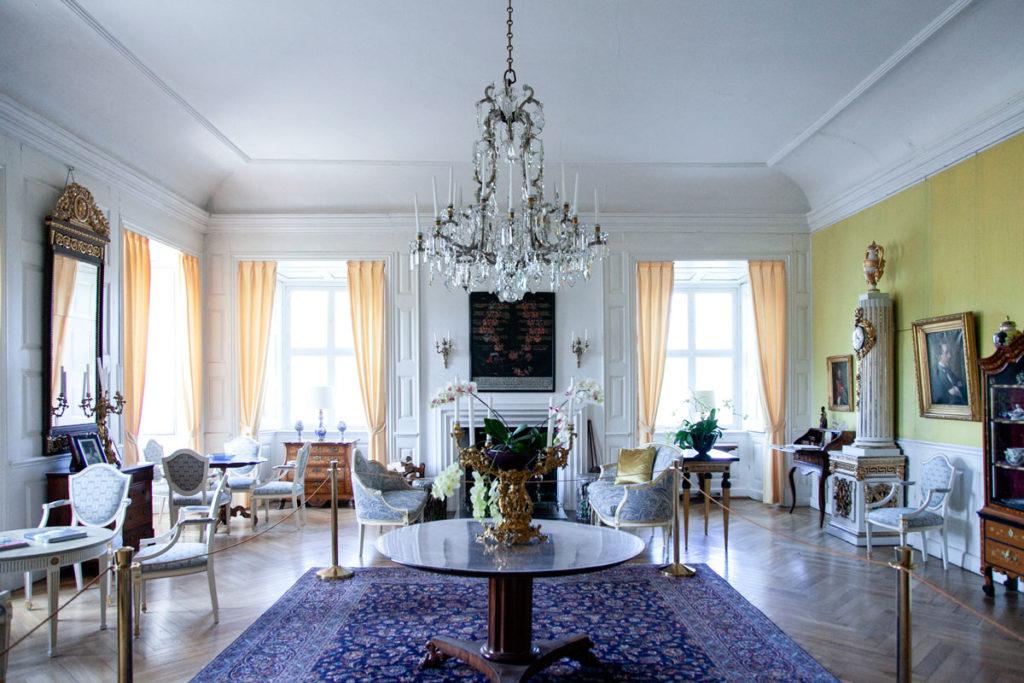 Sala Gialla con stile tardo barocco