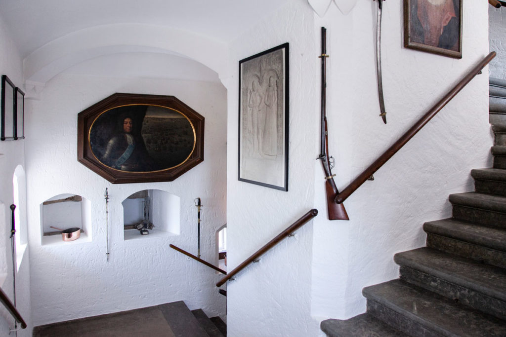 Scalinata interna al Castello di Egeskov