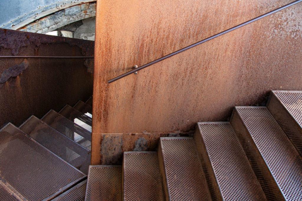 Scalinata interna al faro Rubjerg Knude
