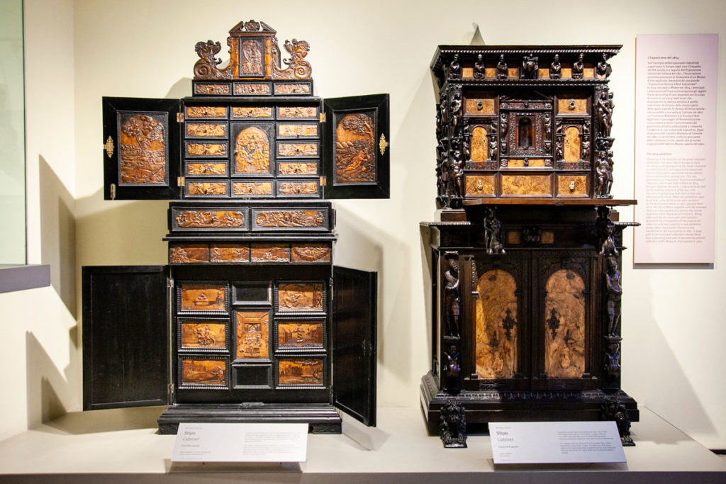 Stipi al museo del mobile di Milano