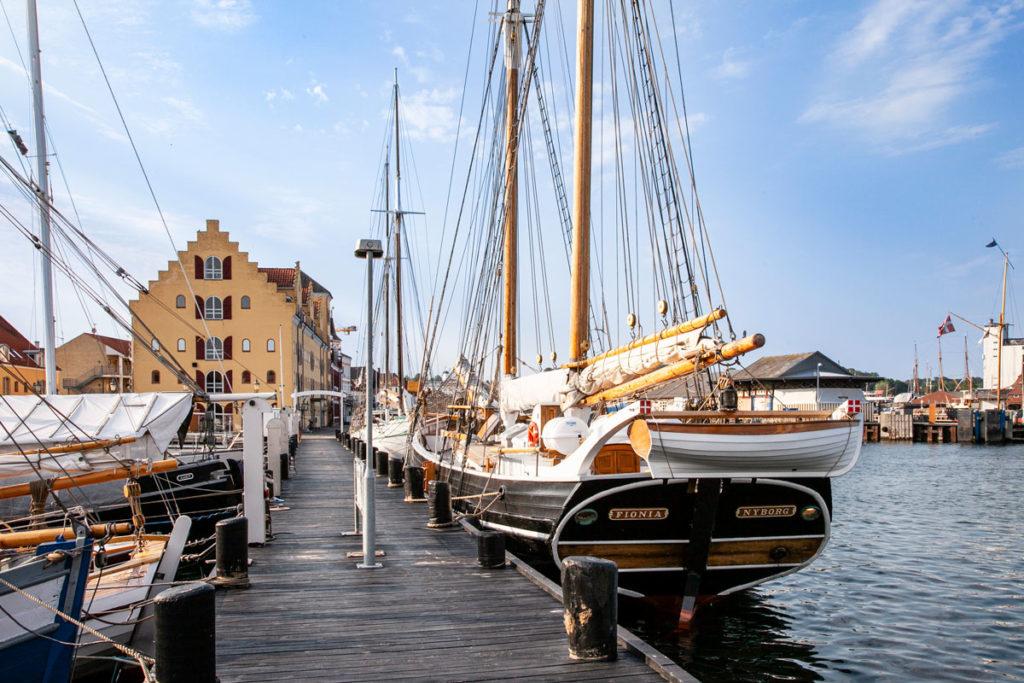 Velieri antichi attraccati a Svendborg