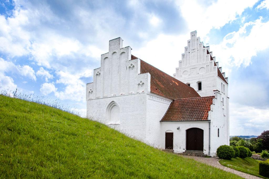 Vista dal tumulo della Elmelunde Kirke - Isola di Mon