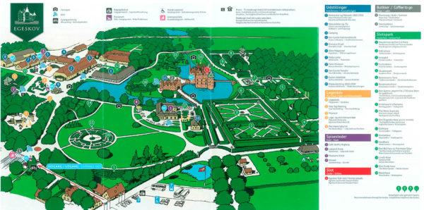 Mappa Castello e Parco di Egeskov