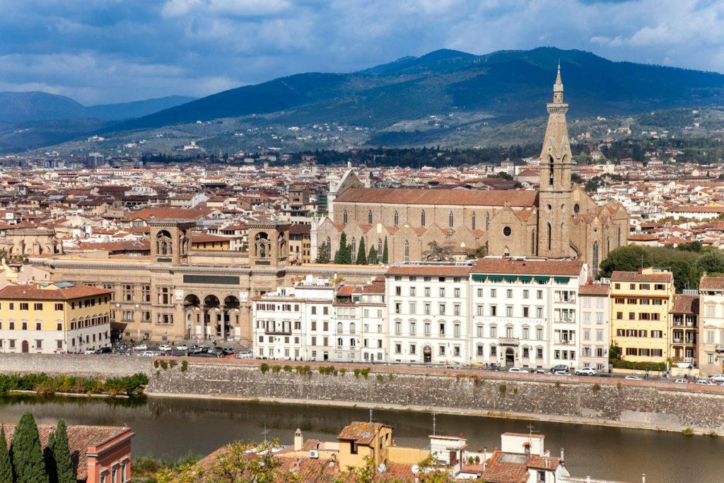 Basilica di Santa Croce vista piazzale Michelangelo