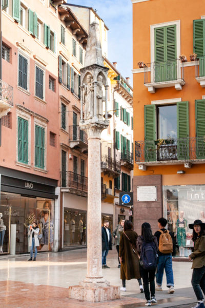 Colonna devozionale del mercato - Piazza Brà