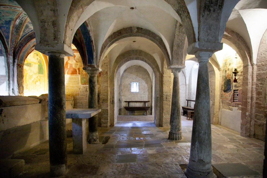 Cosa vedere a Spoleto - Cripta della chiesa di San Ponziano