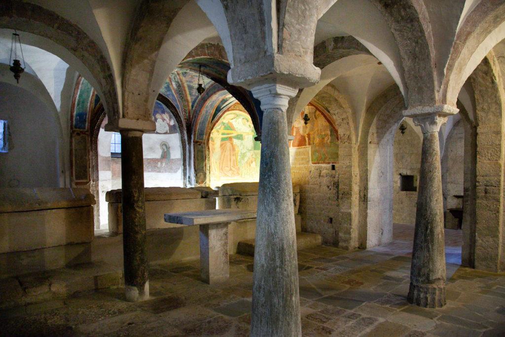 Cripta della Chiesa di San Ponziano con colonne di spoglio