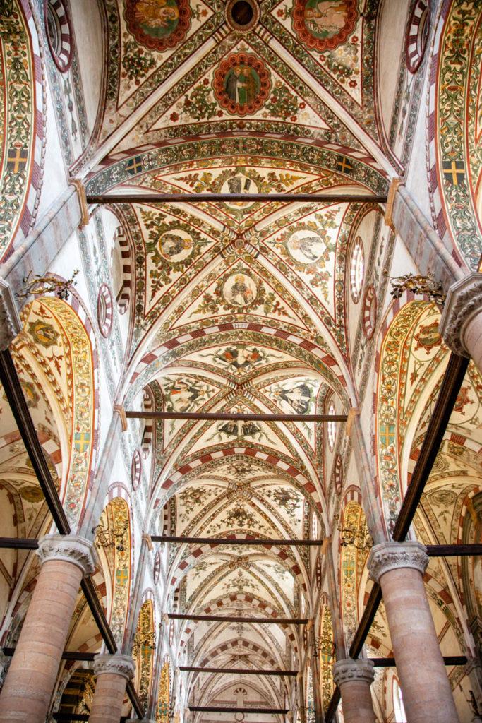 Decori delle Volte della Navata centrale della Basilica di Santa Anastasia