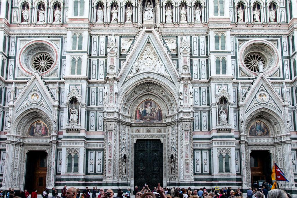 Facciata con Ingresso alla Cattedrale di Santa Maria del Fiore