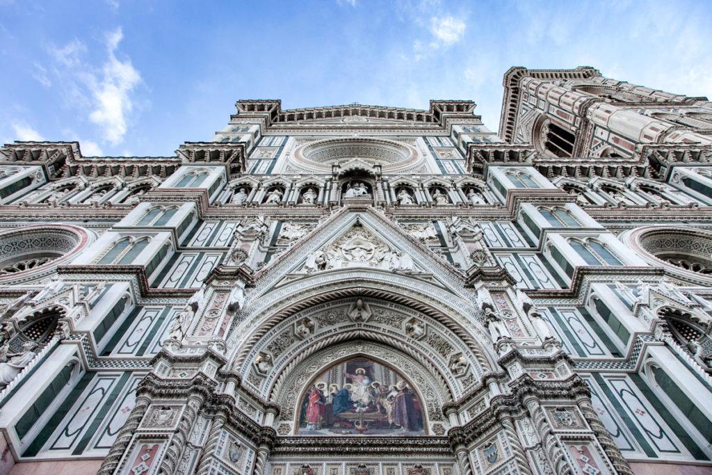 Facciata decorata della Cattedrale di Santa Maria del Fiore