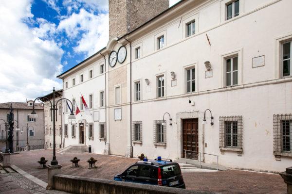 Facciata del Palazzo Comunale di Spoleto
