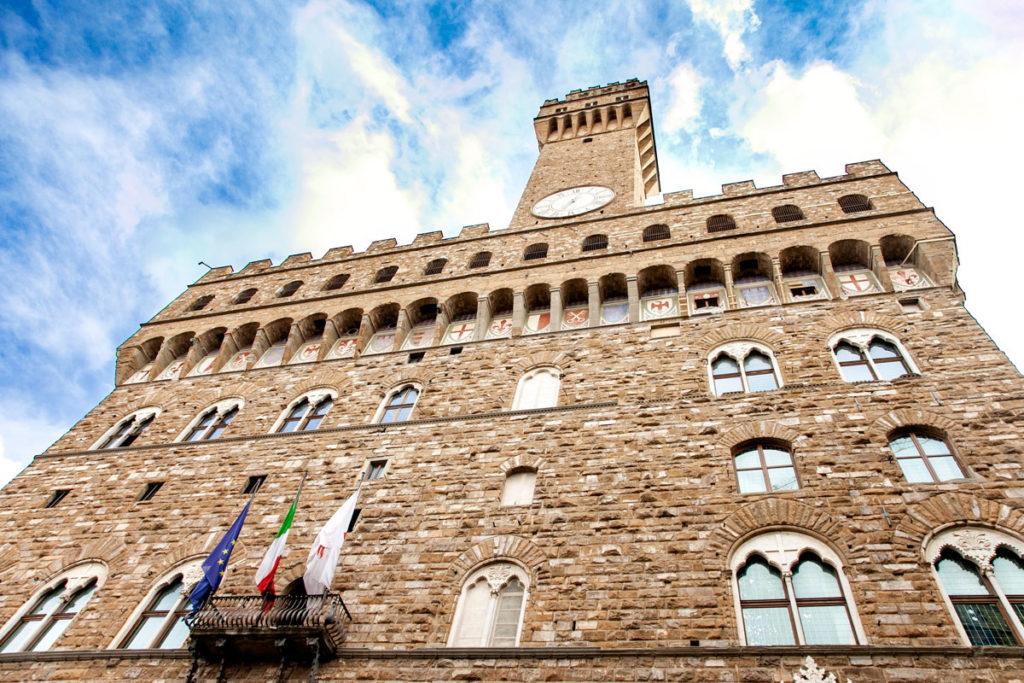 Facciata del Palazzo Vecchio di Firenze - Cosa Vedere