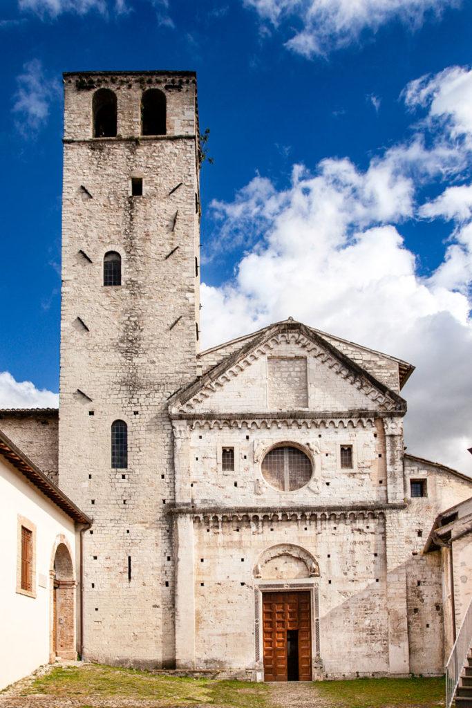 Facciata della Chiesa di San Ponziano - XI secolo - Spoleto