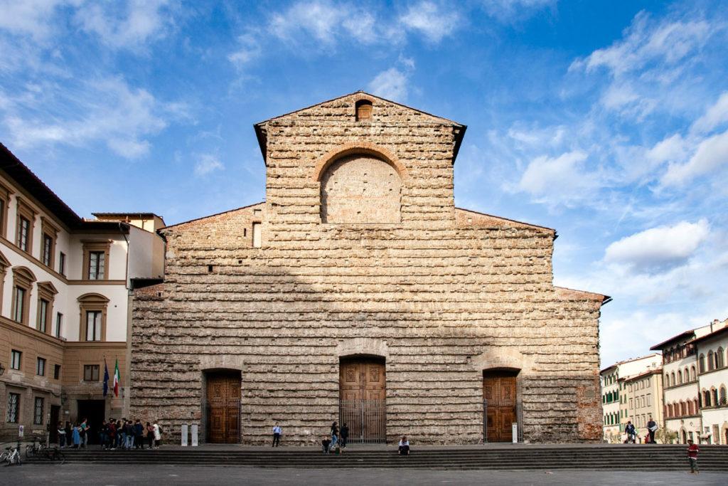 Facciata della Basilica di San Lorenzo a Firenze