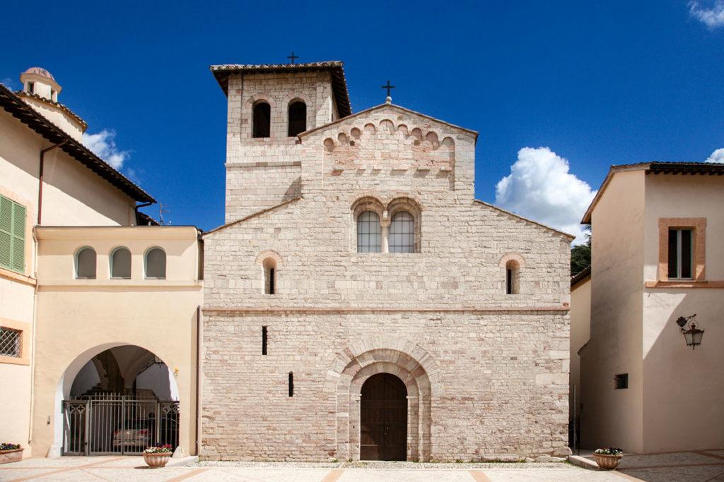 Facciata della Chiesa di Sant'Eufemia nel Palazzo Arcivescovile di Spoleto