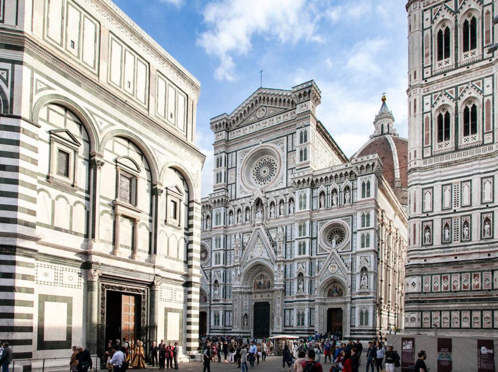 Facciata e Campanile della Cattedrale di Santa Maria del Fiore e Battistero di San Giovanni