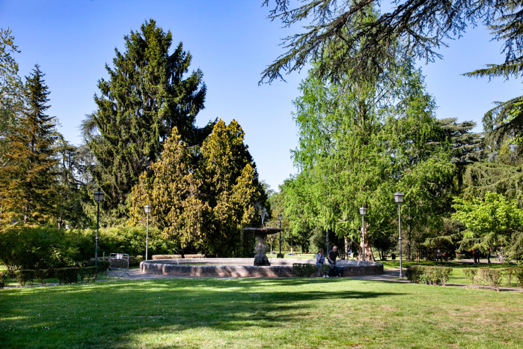 Giardino di Ferrara con Fontana - Orto Botanico dell'Università