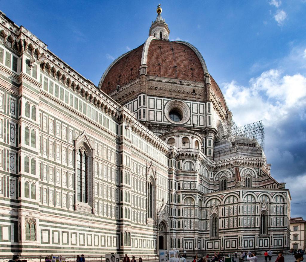 Il fianco della Cattedrale di Santa Maria del Fiore e cupola del Brunelleschi
