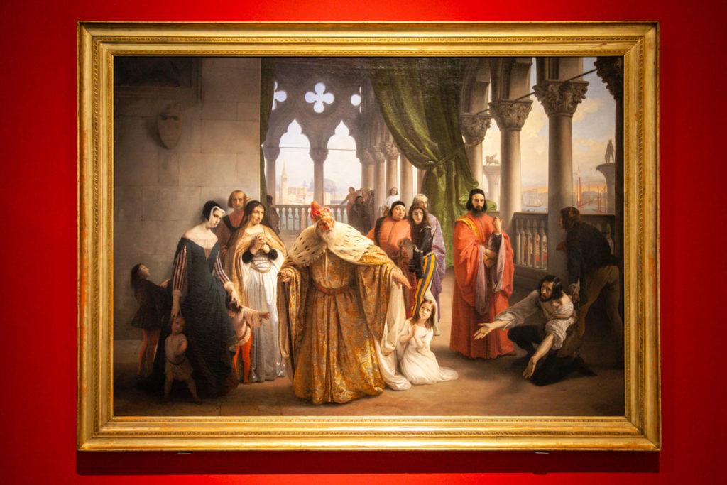 L'ultimo abboccamento di Francesco Foscari - Quadro di Hayez dentro la Galleria di Arte Moderna Achille Forti