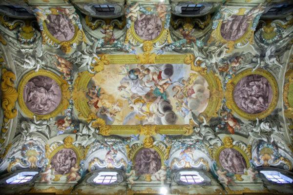 Le volte affrescate della chiesa della Santissima Nunziatina