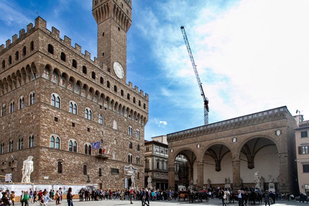 Palazzo Vecchio di Firenze e Loggia dei Lanzi