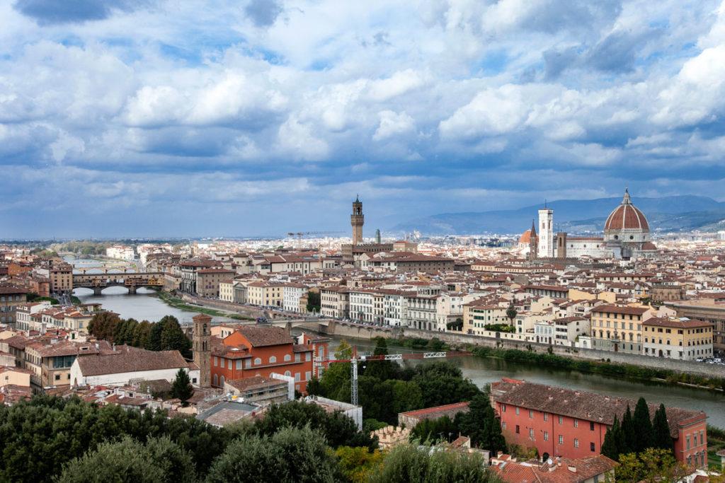 Panorama su Firenze - Centro Storico Ponte Vecchio Piazza della Signoria e Duomo