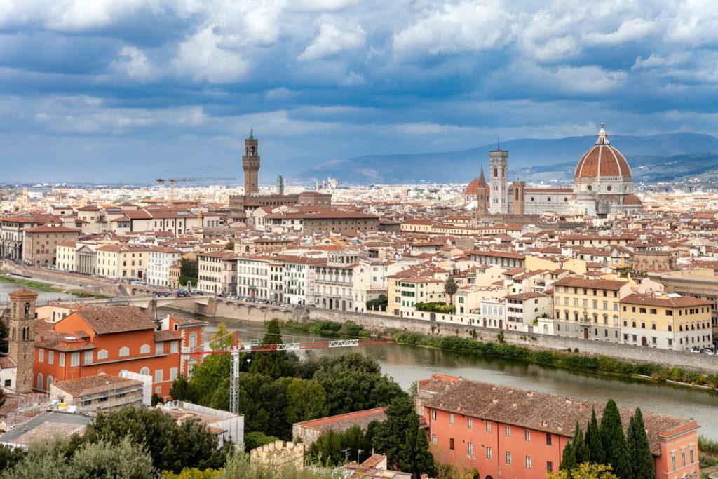 Panorama sul centro storico di Firenze da Piazzale Michelangelo