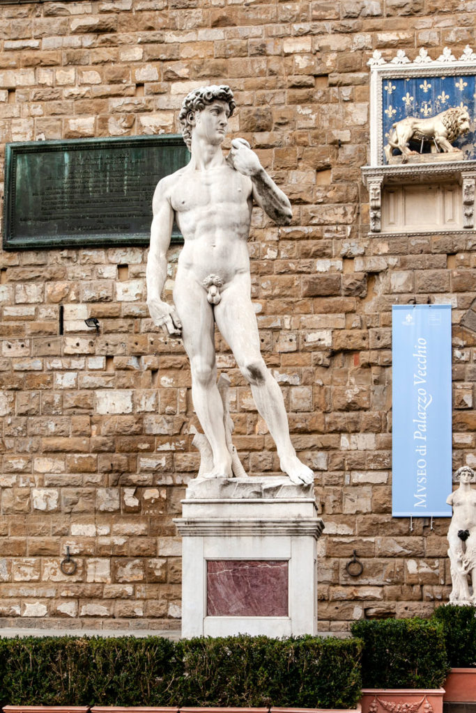 Statua del David di Michelangelo - Copia in piazza della Signoria