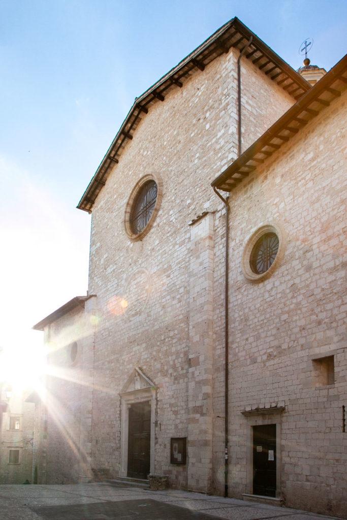 Facciata della Chiesa di Sant'Emiliano a Trevi