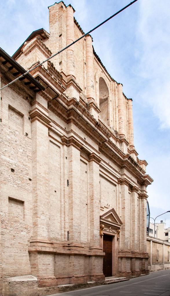 Facciata della Ex Chiesa della Santissima Trinità in Annunziata di Foligno