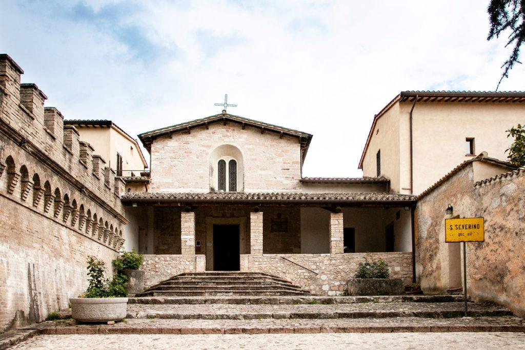Facciata della chiesa di San Severino a Spello