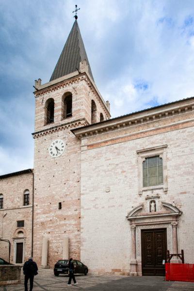 Facciata della chiesa di Santa Maria Maggiore e Campanile