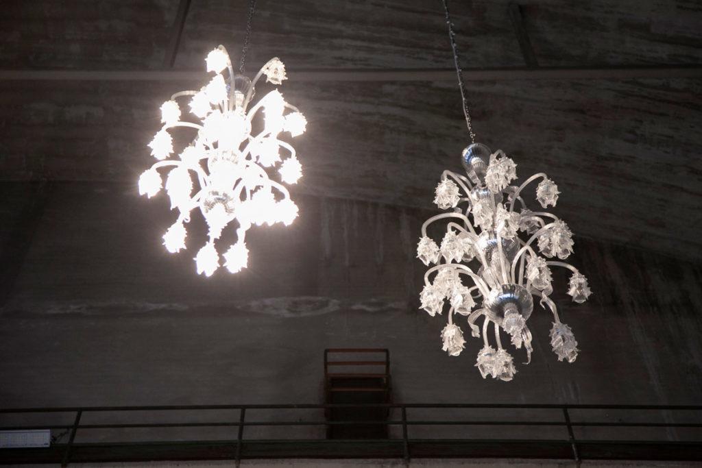 I lampadri in vetro di Murano di Mantra - Opera artistica