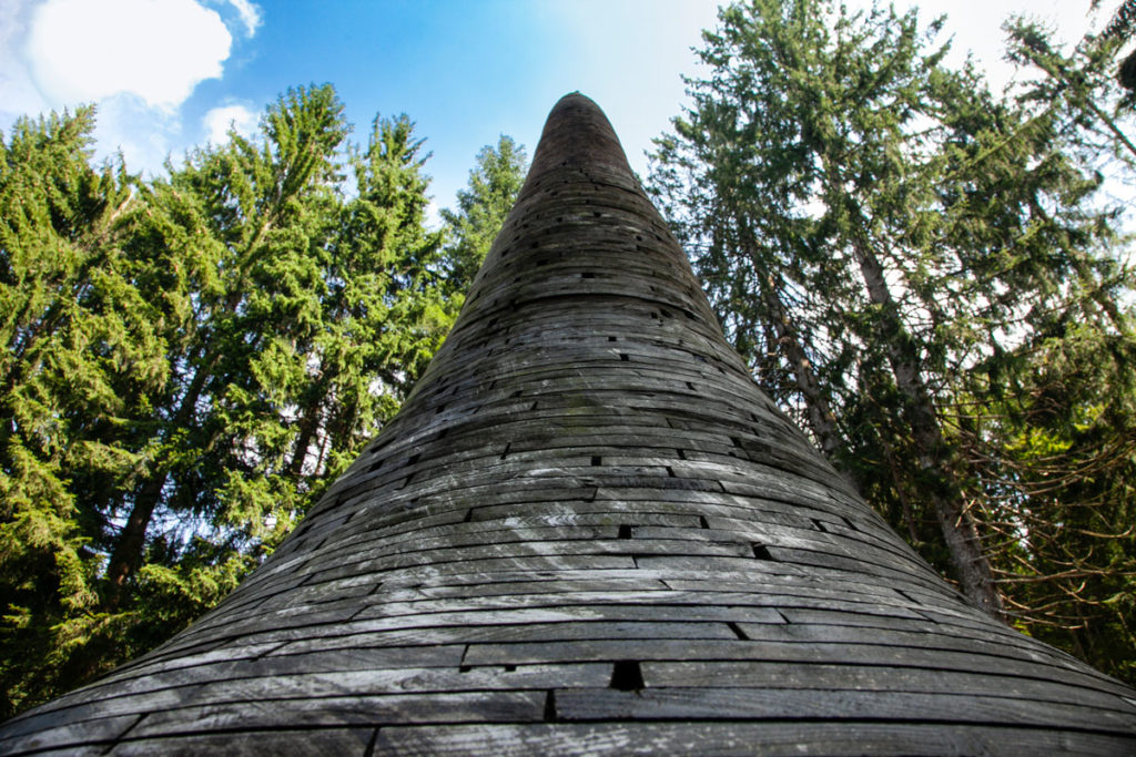 La punta della Stupa di Arte Sella