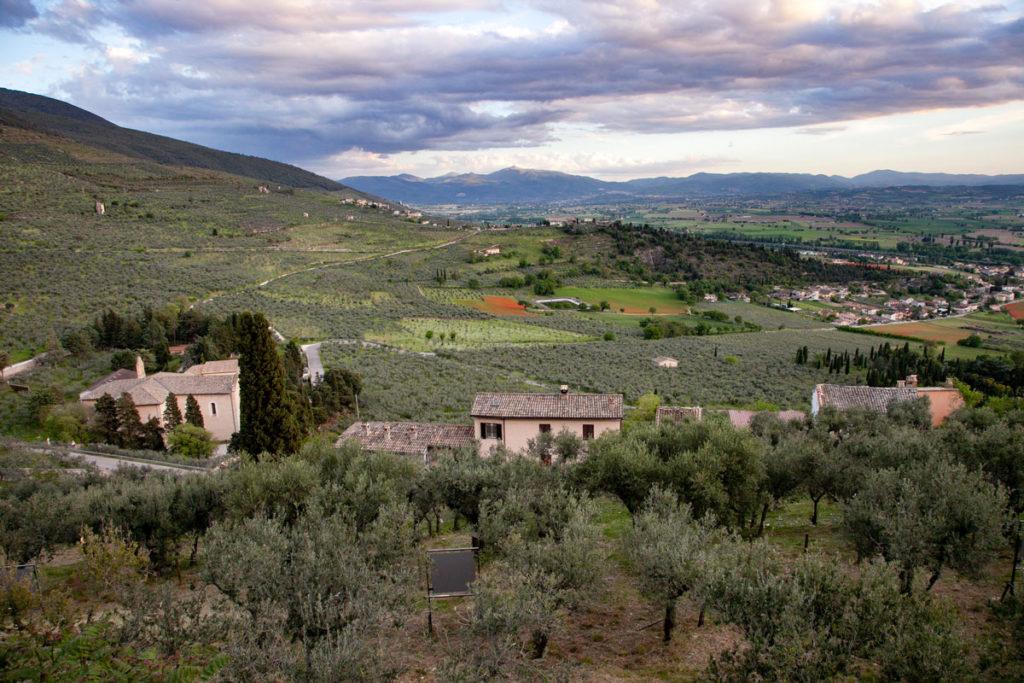 Panorama sulla vallata da parco di Villa Fabri