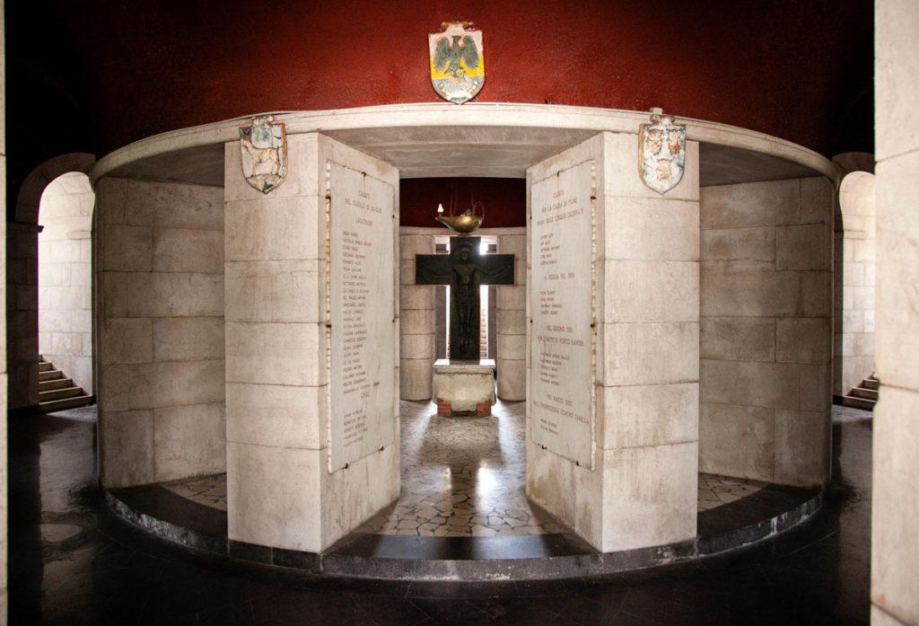 Sotterranei del mausoleo del Vittoriale degli Italiani