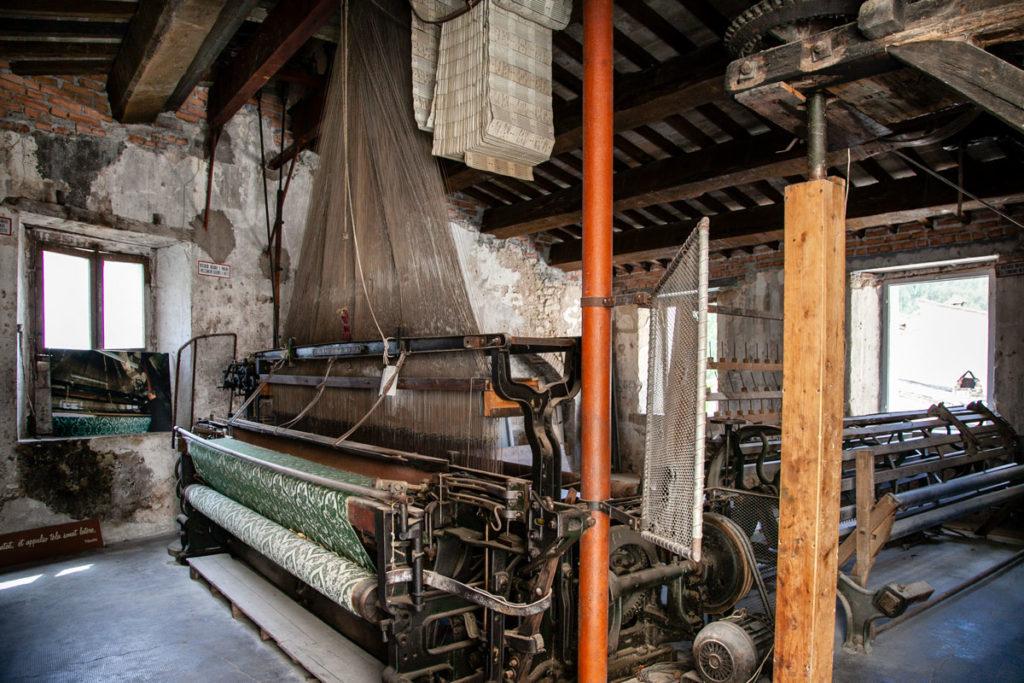 Telaio meccanico ottocentesco di Rasiglia - Telaio Jacquard