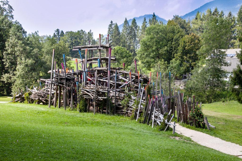 Trabucco di montagna - Opera d'Arte di Arne Quinze ad Arte Sella