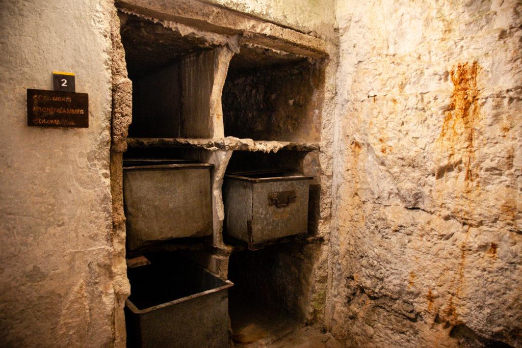 Colombari - camere mortuarie del Forte Belvedere Gschwent