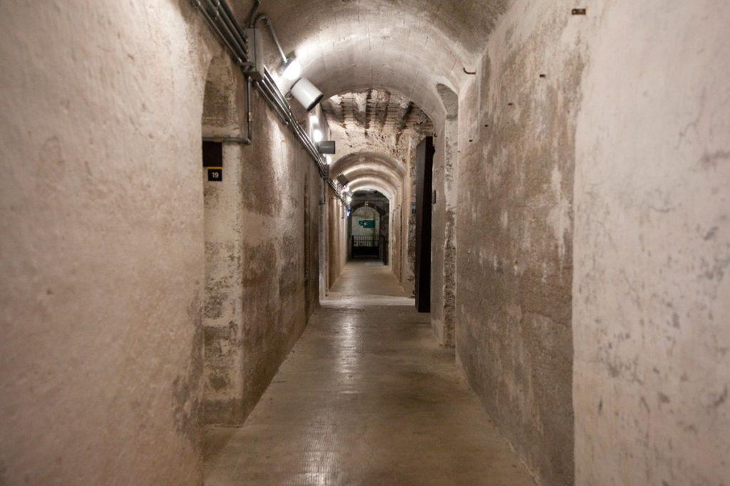 Corridoi interni del Forte Belvedere Gschwent