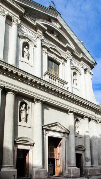 Facciata della chiesa di San Matteo e San Marco - Novara