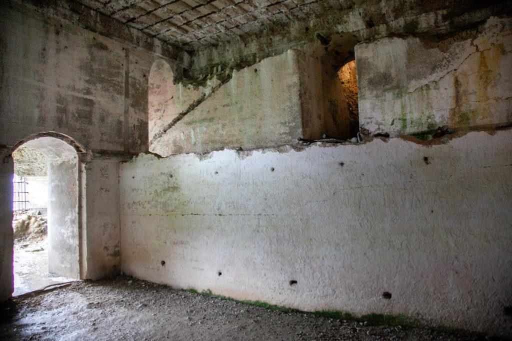 Fortino numero 4 visto dall'interno - Forte Belvedere Gschwent
