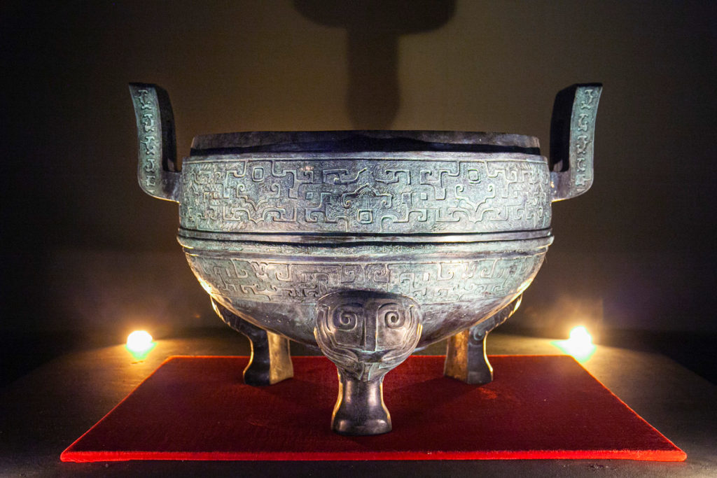 Il Tripode Ding - recipiente più grande trovato nella necropoli