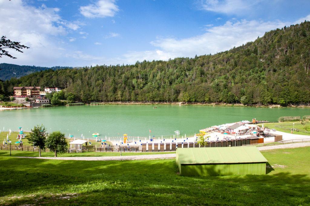 Panorama sul lago di Lavarone - 1079 mslm