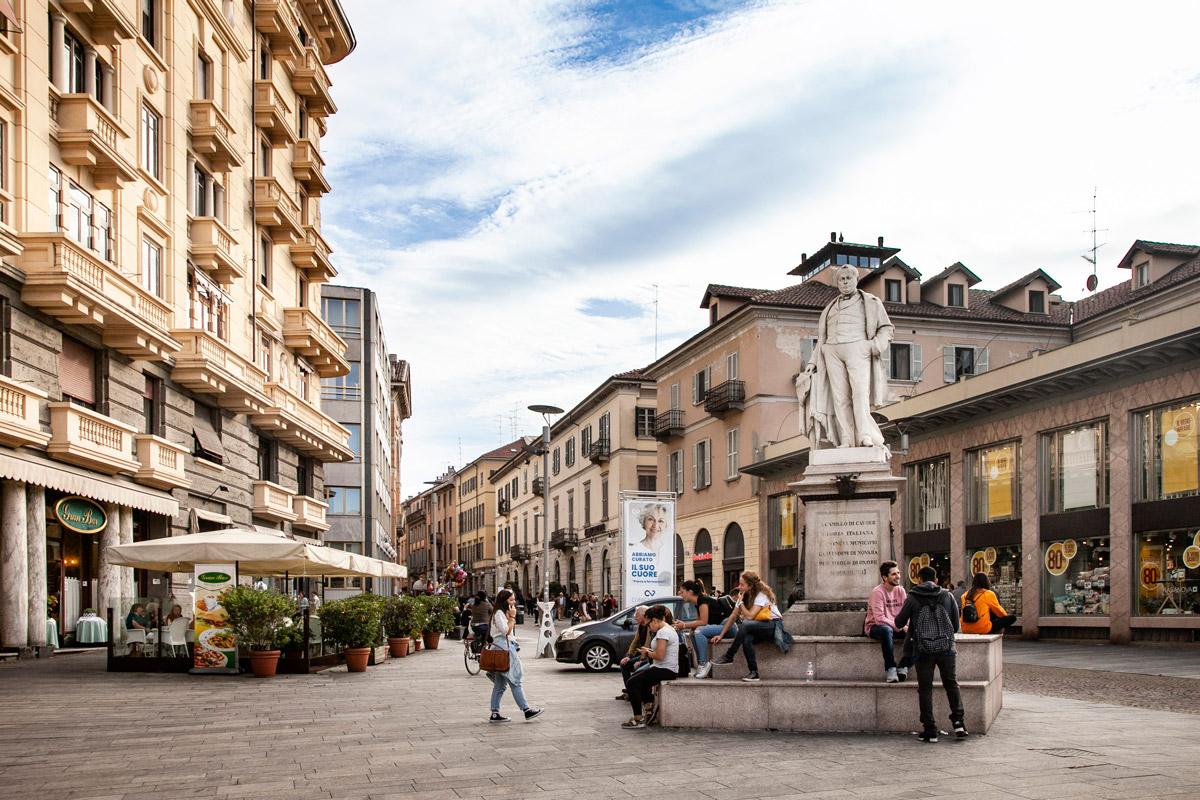 Piazza Cavour di Novara