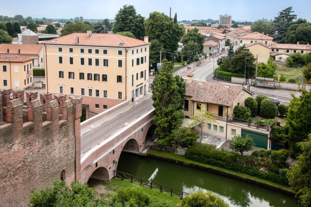Porta Vicenza vista dal camminamento sulle mura